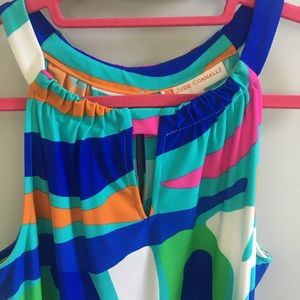 Jude Connally Dresses - Brightly colored Halter dress
